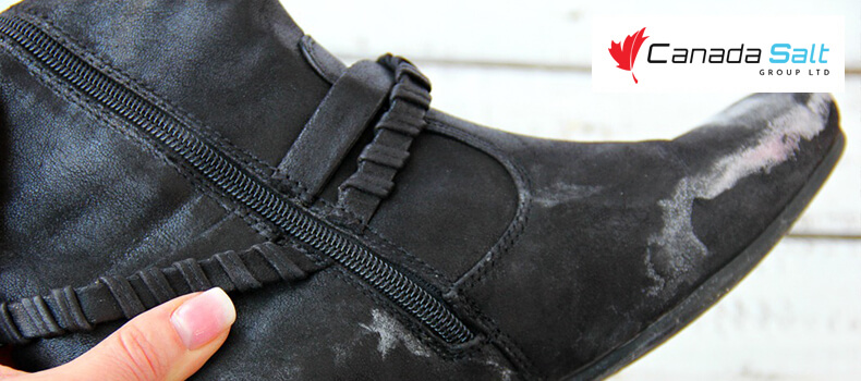 How to remove snow salt from shoes? - Canada Salt